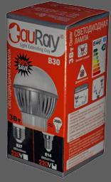 Коробка светодиодной лампы серии B30