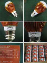 Стадии упаковки лампы светодиодной BX1-21S