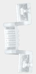 Крепежная клипса для светодиодной ленты на 220 вольт 3528,5050A