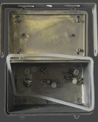 Бокс драйвера, крепёж и задняя скоба корпуса FLH30