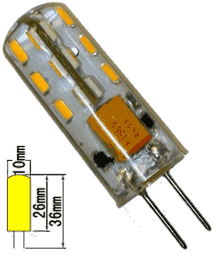 Светодиодная лампа G4 24 вольта (12V-24V) K13-24S