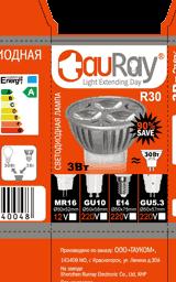Разворот картонной коробки светодиодных ламп серии R30