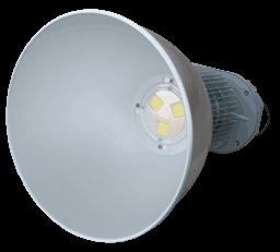 Вид спереди подвесного промышленного светодиодного светильника MLU150N