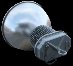 Вид сзади подвесного промышленного светодиодного светильника MLU150N
