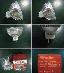 Процесс упаковки лампы светодиодной R31-F