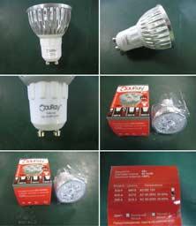 Стадии упаковки лампы светодиодной R40-A
