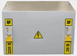 Ящик с понижающим трансформатором ЯТП-0,25 220/36-2