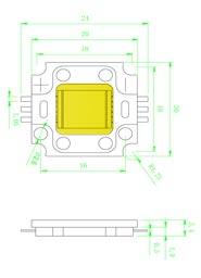 Размеры светодиодной матрица 10 Ватт