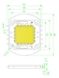 Размеры светодиодной матрица 20 Ватт