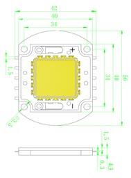 Размеры светодиодной матрица 30 Ватт