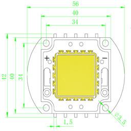 Размеры светодиодной матрица 40 Ватт