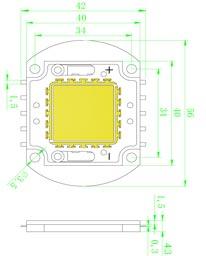 Размеры светодиодной матрица 70 Ватт